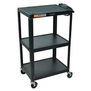 Offex Steel Fixed Height AV Cart; 39'' H x 25'' W x 19'' D