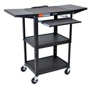 Offex Adjustable Height AV Cart; Black