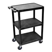Offex 3 Shelf Utility Cart; 42'' H x 24''W x 18''D