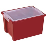 Offex Children Cubby Bin (Set of 4); Red