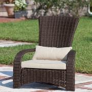PatioSense Deluxe Coconino Wicker Chair w/ Cushion