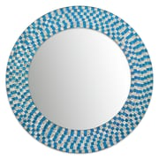 DecorShore Embossed Glass Mosaic Tile Wall Mirror