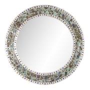 DecorShore Decorative Crackled Glass Mosaic Wall Mirror