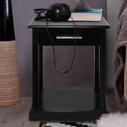 Casual Home Bay View End Table; Black