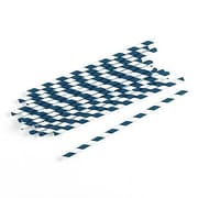 Weddingstar Sippers Candy Paper Straw (Set of 75); Navy Blue