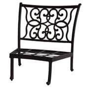K B Patio Santa Anita Armless Curved Club Chair w/ Cushions