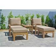 Willow Creek Designs Huntington 3 Piece Deep Seating Chair Set w/ Cushion; Bravada Lime Light