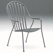 Woodard Valencia Stackable High Back Barrel Chair; Graphite