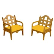 Wedgewood Furniture Palladian Solid Lounge Chair (Set of 2); Yellow
