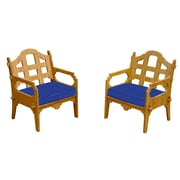 Wedgewood Furniture Palladian Solid Lounge Chair (Set of 2); Blue