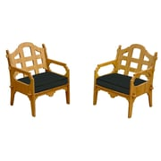 Wedgewood Furniture Palladian Solid Lounge Chair (Set of 2); Black