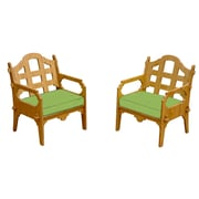 Wedgewood Furniture Palladian Solid Lounge Chair (Set of 2); Ginko Green