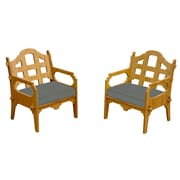 Wedgewood Furniture Palladian Solid Lounge Chair (Set of 2); Charcoal