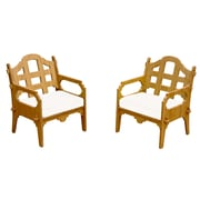 Wedgewood Furniture Palladian Solid Lounge Chair (Set of 2); White