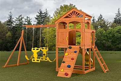 CreativeCedarDesigns Timber Valley Swing Set
