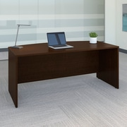 "Bush Business Westfield 72""W Bow Front Desk Shell, Mocha Cherry"