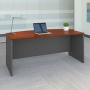 Bush Business Westfield 72W Bow Front Desk Shell, Hansen Cherry/Graphite Gray
