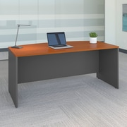 Bush Business Westfield 72W Bow Front Desk Shell, Mocha Cherry