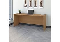 Bush Business Westfield 72W x 30D Desk/Credenza/Return, Danish Oak