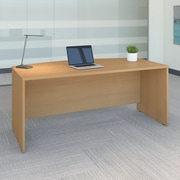 Bush Business Westfield 72W Bow Front Desk Shell, Danish Oak