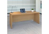 Bush Business Westfield 72W Bow Front Desk Shell, Danish Oak