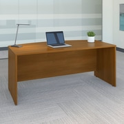 Bush Business Westfield 72W Bow Front Desk Shell, Cafe Oak, Installed