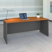 Bush Business Westfield 72W Bow Front Desk Shell, Natural Cherry/Graphite Gray