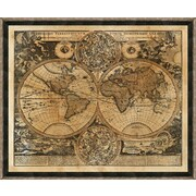 Smith & Co. Heritage World Map Framed Giclee Print; 22'' H x 28'' W