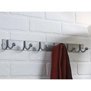 Richelieu Utility Wall Mounted Coat Rack; Brushed Aluminum