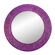DecorShore Trend Shimmering Mermaid Glass Mosaic Tile Wall Mirror; Purple