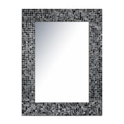 DecorShore Decorative Glass Mosaic Tile Wall Mirror; Black