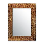 DecorShore Decorative Glass Mosaic Tile Wall Mirror; Brown
