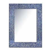 DecorShore Decorative Glass Mosaic Tile Wall Mirror; Sapphire