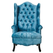 TOV Madison Wing Chair; Slate Blue
