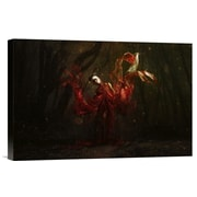 Global Gallery 'Wood Flower' by Nadja Ellinger Photographic Print on Wrapped Canvas