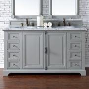 James Martin Furniture Providence 60'' Double Bathroom Vanity Base; Urban Gray