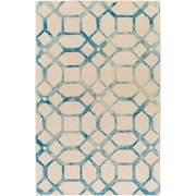 Artistic Weavers Organic Brittany Hand-Tufted Teal/Ivory Area Rug; 8' x 10'