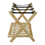 Casual Home Calvin Luggage Rack; Natural