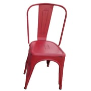 The Urban Port Tolix Steel Chair (Set of 2); Red