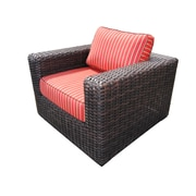 Teva Furniture Santa Monica Arm Chair w/ Cushions; Bay Brown