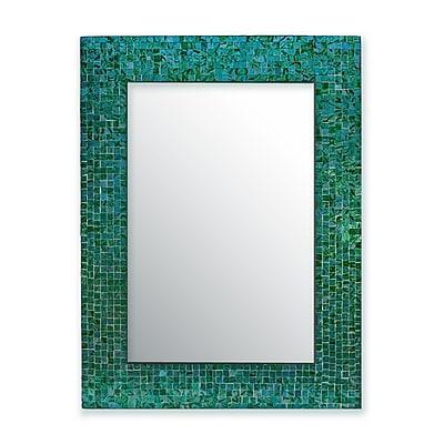 DecorShore Decorative Glass Mosaic Tile Wall Mirror;