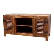 MOTI Furniture Troy Multimedia TV Stand; Honey