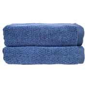 Everplush Diamond Jacquard Bath Towel (Set of 2); Navy Blue