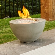 The Outdoor GreatRoom Company Cove Concrete Gas Fire Pit Table; 12'' H x 19'' W x 19'' D