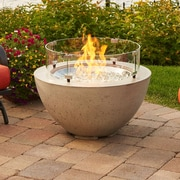 The Outdoor GreatRoom Company Cove Concrete Gas Fire Pit Table; 20'' H x 29.25'' W x 29.25'' D