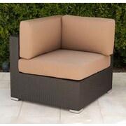 Trijaya Living Wicker Corner Chair w/ Cushion