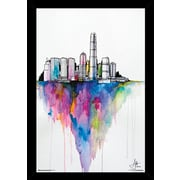 Frame USA 'Monolith II' Poster Plastic by by Marc Allante Framed Print of Painting