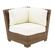 Panama Jack St Barths Modular Corner Chair w/ Cushions; Glacier