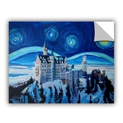 ArtWall Markus and Martina Bleichner Starry Night w/ Romantic Castle Wall Decal
