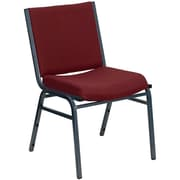 Offex Hercules Series Armless Stacking Chair; Burgundy